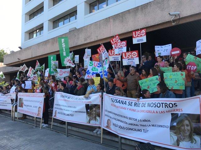 Manifestación guarderías Málaga nuevo decreto junta