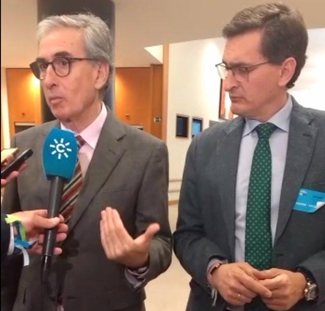 Ramón Jáuregui y José Luis Sánchez Teruel (PSOE)