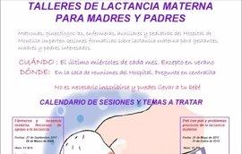 Sanitarios del Hospital de Montilla (Córdoba) divulgan mediante talleres los beneficios de la leche materna