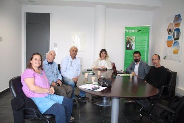 Encuentro entre miembros de la empresa, UCO y Ministerio de Israel