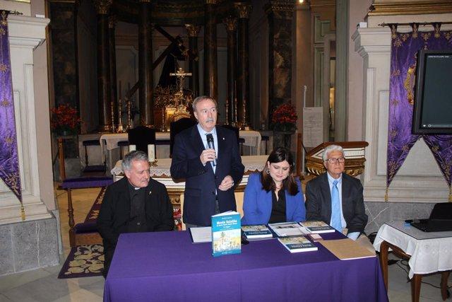 Imagen de la presentación del libro, en el Museo Salzillo