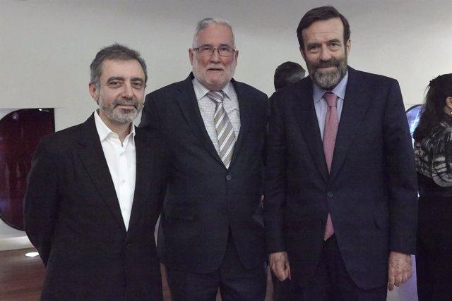Ramón Ruiz con miembros del Patronato del Museo Reina Sofía