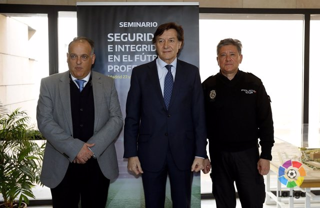 Tebas, Lete y  Juan Carlos Castro, Comisario General de Seguridad Ciudadana