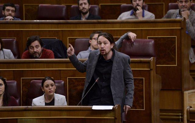 Pablo Iglesias - Pleno en el Congreso