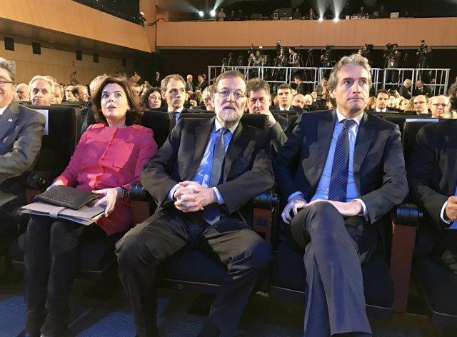 Soraya Sáenz de Santamaría, Mariano Rajoy e Íñigo de la Serna