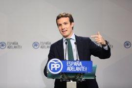 "Casado (PP) afirma que la CUP está ""fracturando Cataluña"" antes de ""fracturar España"""