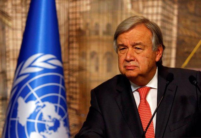 El secretario general de la ONU, Antonio Guterres