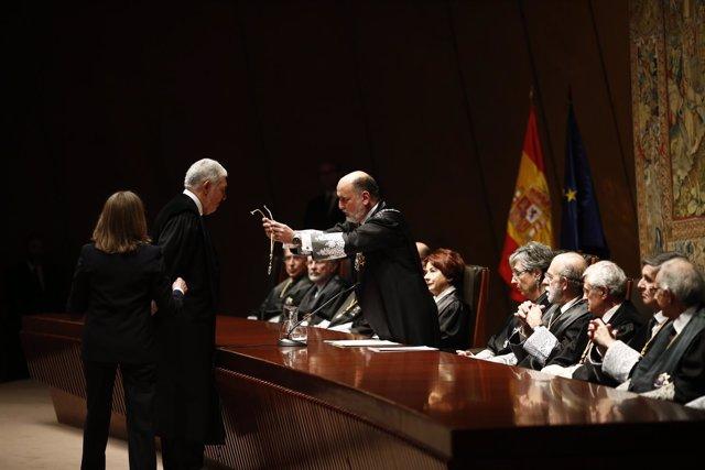 Toma de posesión de los nuevos cuatro magistrados del Tribunal Constitucional
