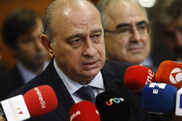 El ministro de Interior en funciones, Jorge Fernández Díaz