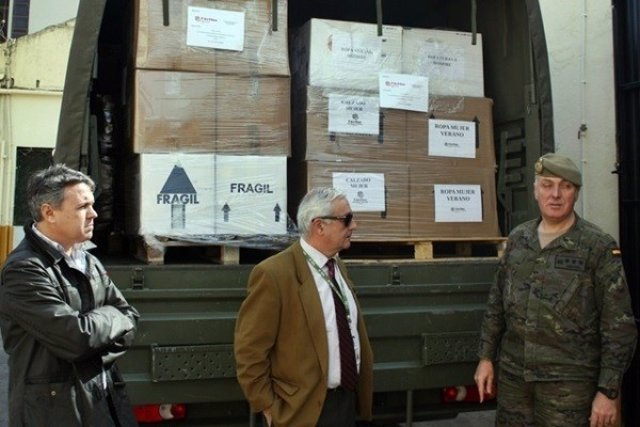 Cáritas Castrense entrega 2 toneladas de ropa al CETI de Ceuta