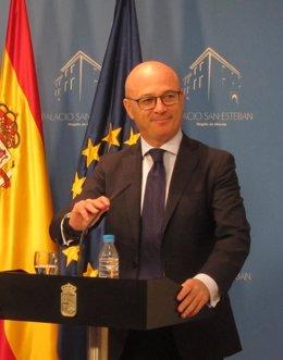 El consejero de Desarrollo Económico, Turismo y Empleo, Juan Hernández