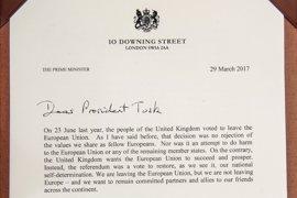Theresa May pide en su carta a la UE negociar a la vez el divorcio y la futura relación de Reino Unido