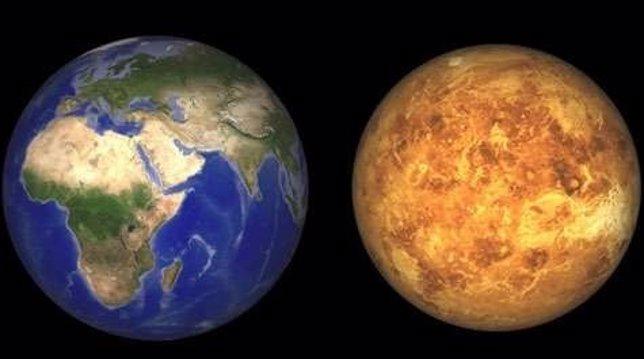 Comparativa de la Tierra y Venus
