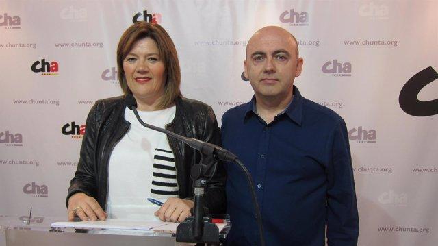 Carmen Martínez y Miguel Jaime, dirigentes de CHA