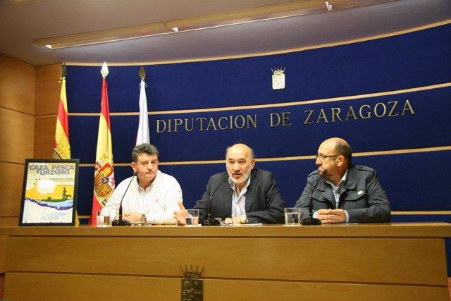 Ángel Nuño, José Manuel Aranda y Jesús Pablo Buil presentan la Feria.