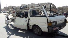 Al menos cinco muertos en un atentado contra un autobús en Homs