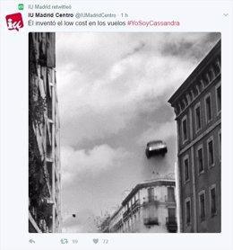 Pantallazo Twitter IU Madrid