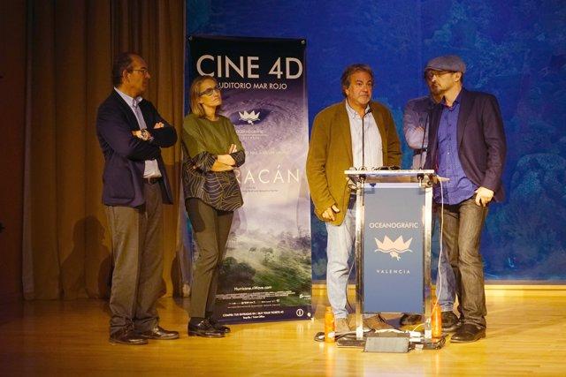 Inauguración del cine 4D en el Oceanogràfic