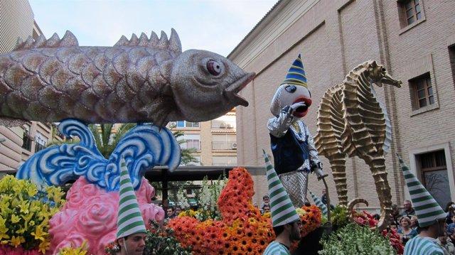Carroza Entierro De La Sardina En El Desfile 'Murcia En Primavera'