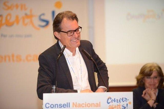 El presidente de CDC y expresidente de la Generalitat, Artur Mas