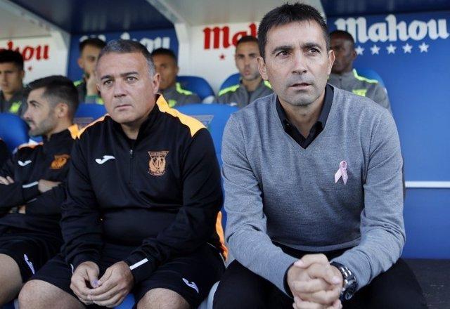 Asier Garitano y Jaime Pérez, izquierda, 1º y 2º entrenador del Leganés