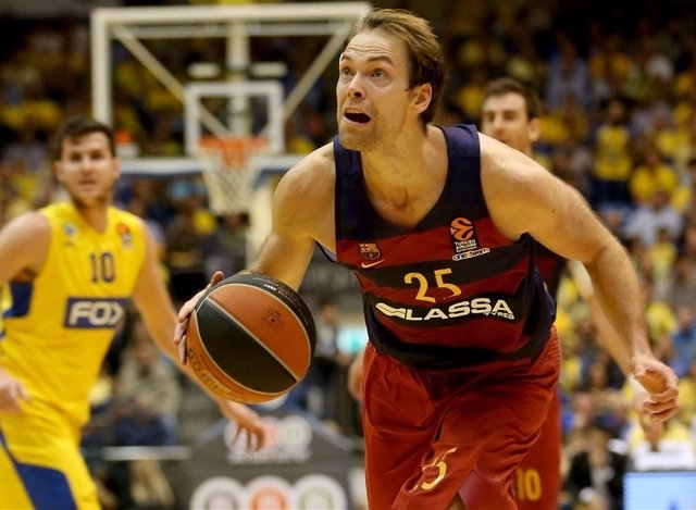 Petteri Koponen en el Maccabi - Barcelona