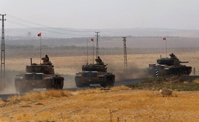 Tanques turcos en Siria.