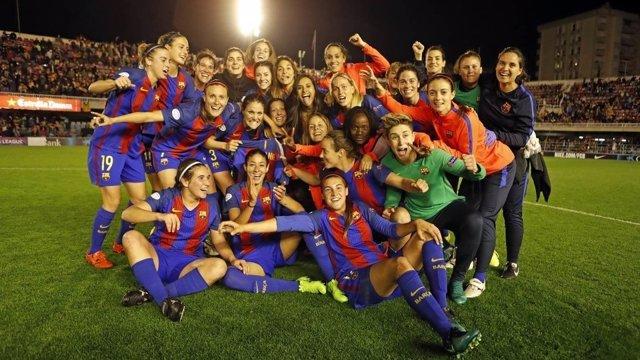 El Barça femenino se mete en semifinales de la 'Champions' por primera vez en su