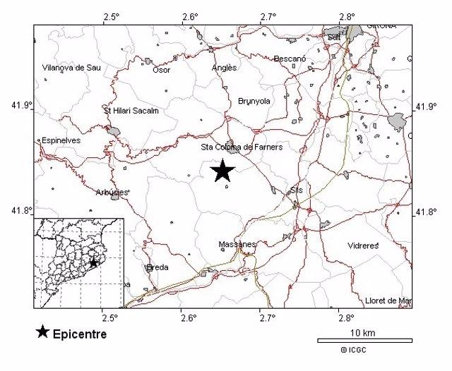 """Girona registra un seísmo de magnitud 3 """"levemente percibido"""" pero sin daños"""