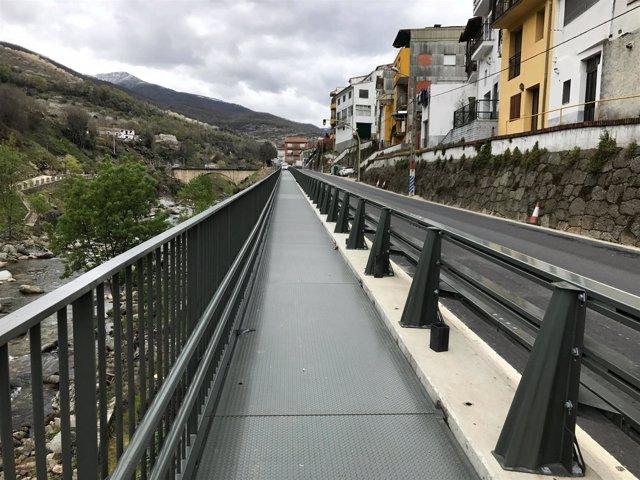 Pasarela en Cabezuela del Valle en la N-110