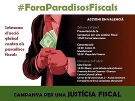 """València """"tira del carro"""" contra los paraísos fiscales con una concentración simbólica el lunes"""