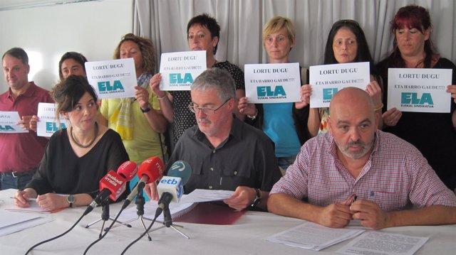 Txiki Muñoz y representantes de ELA