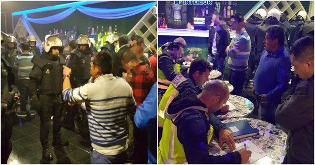 Imagen de la redada policial en la discoteca