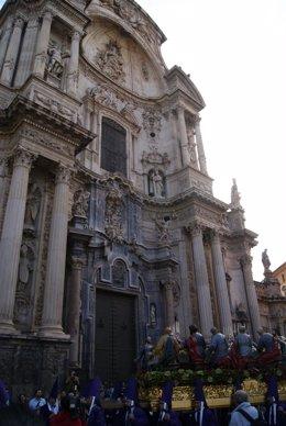 Procesión En Murcia Del Viernes Santo, El Desfile De Los Salzillos