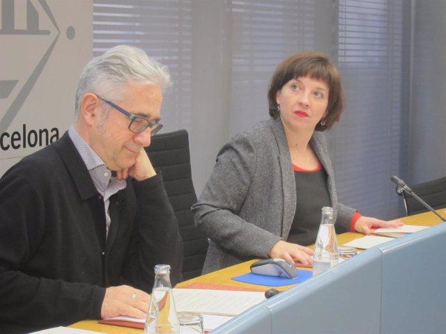 La Teniente De Alcalde Laia Ortiz Y El Concejal Josep Maria Montaner