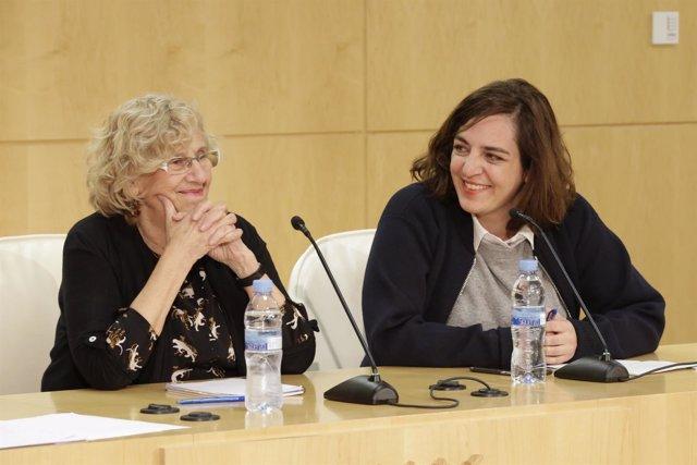 Manuela Carmena y Celia Mayer