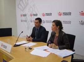 La Diputación de Badajoz ha ejecutado el 86% de su presupuesto para 2016 y cuenta con un remanente de 58 millones