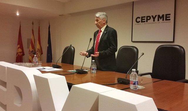 Aurelio López de Hita ha sido reelegido presidente d eCepyme-Aragón.