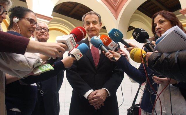 José Luis Rodríguez Zapatero, este jueves en Sevilla