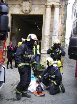 Los bomberos de Carmona.