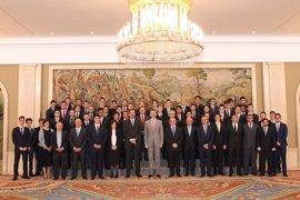 El Rey Felipe VI recibe a una delegación de la EFA Moratalaz de Manzanares