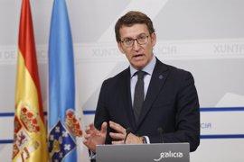 """PGE.- Feijóo ve """"razonable"""" que Cataluña reciba 4.200 millones y propio de un """"pseudogobierno"""" no ir al acto de Rajoy"""