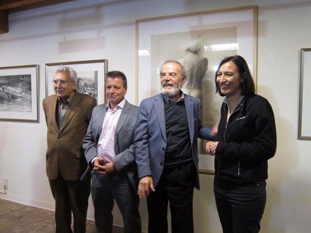 Palacín, Naranjo, Salueña y Carrete, en la exposición en la sala Zuloaga