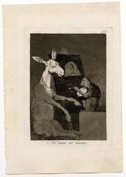 Ni más ni menos, de Francisco de Goya (estampada en 1970)