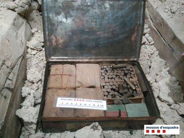 Explosivos de la Guerra Civil en el Monasterio de Santa Teresa de Vic