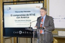 El presidente de RTVE anuncia la creación de una web dedicada a sus productos y un plan de internacionalización