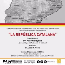 Antoni Bayona imparte una conferencia bajo el título 'La República catalana'