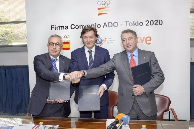 José Antonio Sánchez, José Ramón Lete y  Alejandro Blanco