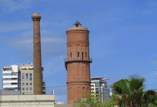 Torre de les Aigües del Besòs, en el distrito de Sant Martí de Barcelona