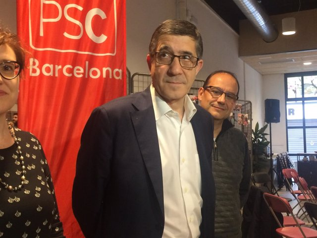 Patxi López, en la agrupación del PSC de Barcelona